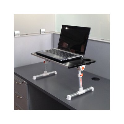12.8 H x 19.75 W Standing Desk Conversion Unit Finish: Black