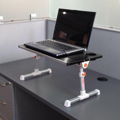 12.8 H x 19.75 W Standing Desk Conversion Unit Finish: Blue