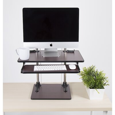 Uptrak Metro 18.25 H x 23.74 W Standing Desk Conversioun Unit Finish: Cherry