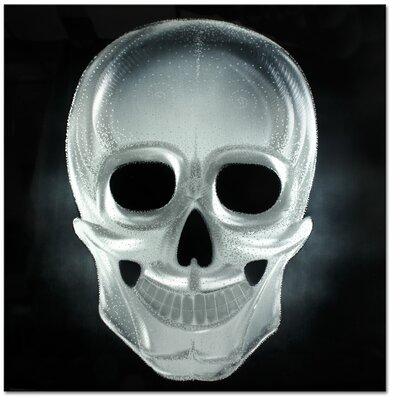 Metal Artscape Ma10079 32 X 32 In. Neon Skull Silver Single-Paneled Xl Metal Wall Art MA10079