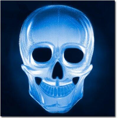 Metal Artscape Ma10078 32 X 32 In. Neon Skull Blue Single-Paneled Xl Metal Wall Art MA10078