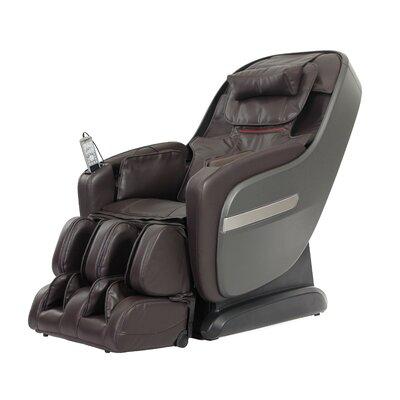 Zero Gravity Massage Chair Upholstery: Brown