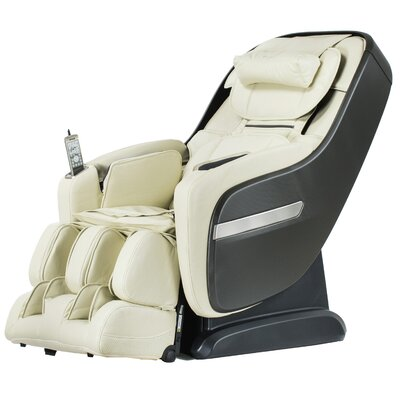 Zero Gravity Massage Chair Upholstery: Cream