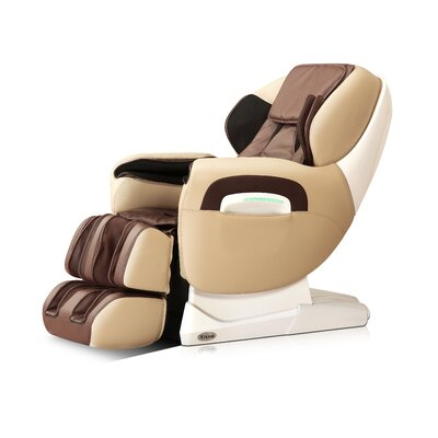 Zero Gravity Massage Chair Upholstery: Cream/Brown