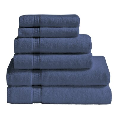 6 Piece Towel Set Color: Blue