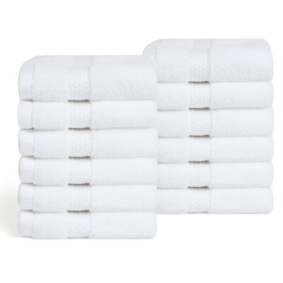 Infinity Zero Twist 12 Piece Luxury Wash Cloth