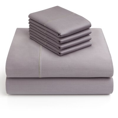 6 Piece 1000 Thread Count Sheet Set Color: Charcoal, Size: King