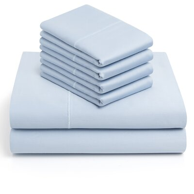 6 Piece 1000 Thread Count Sheet Set Color: Blue, Size: King