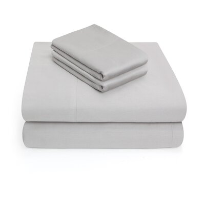300 Thread Count 100% Cotton 4 Piece Sheet Set Color: Smoke, Size: Queen