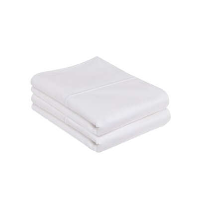 Kearney 100% Pima Cotton Pillow Case Size: King, Color: White