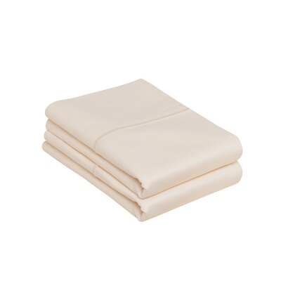 Kearney 100% Pima Cotton Pillow Case Color: Ivory, Size: King