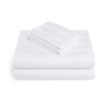 Alluvial 500 Thread Count 100% Cotton Sheet Set Size: King, Color: White