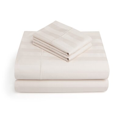 Alluvial 500 Thread Count 100% Cotton Sheet Set Size: King, Color: Ivory