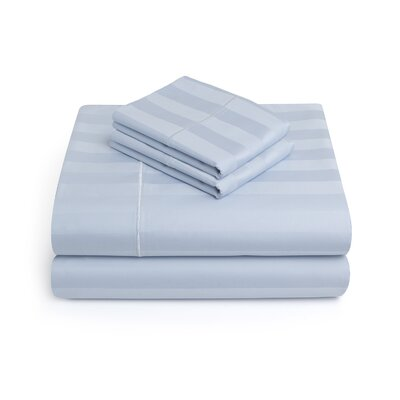 Alluvial 500 Thread Count 100% Cotton Sheet Set Size: King, Color: SkyBlue