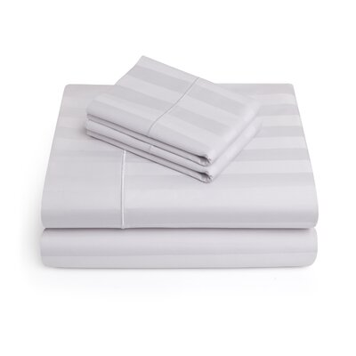 Alluvial 500 Thread Count 100% Cotton Sheet Set Size: King, Color: Silver