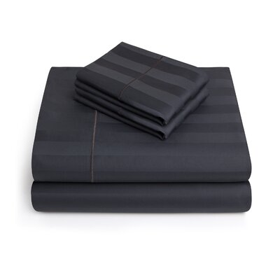Alluvial 500 Thread Count 100% Cotton Sheet Set Size: Full, Color: Granite
