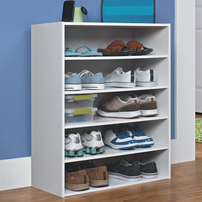 10 Pair Stackable Shoe Rack
