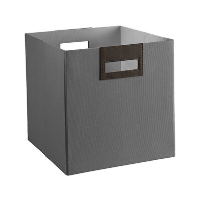 Decorative Storage Fabric Bin Color: Grey