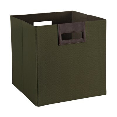 Decorative Storage Fabric Bin Color: Green