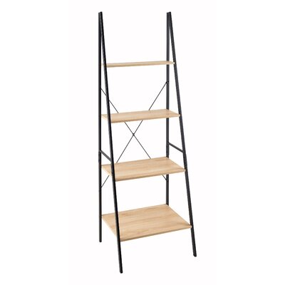 Ladder 70.87 Leaning Bookcase Finish: Black