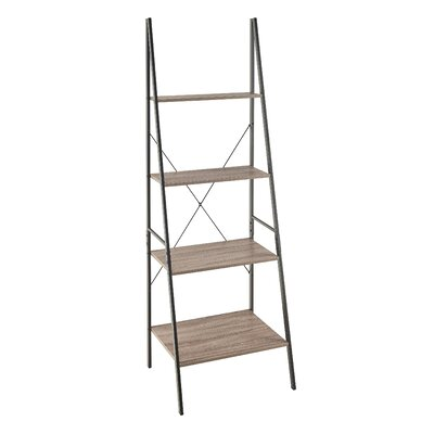 Ladder 70.87 Leaning Bookcase Finish: Gray