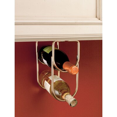 2 Bottle Hanging Wine Rack Finish: Brass