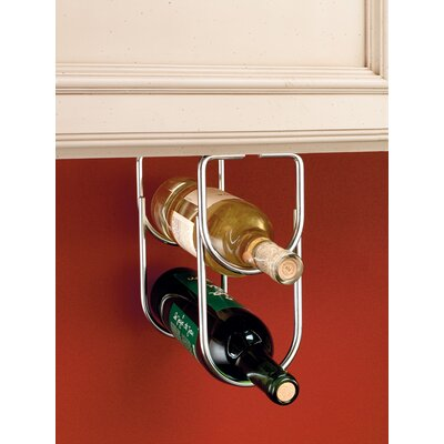 2 Bottle Hanging Wine Rack Finish: Chrome