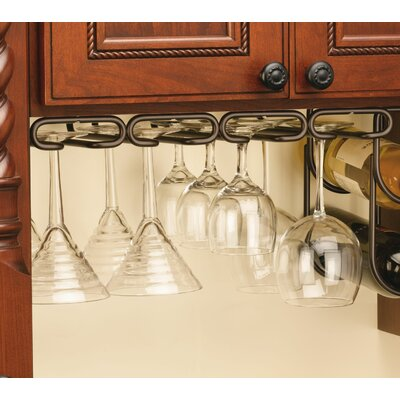 Modern Hanging Wine Glass Rack Finish: Oil Rubbed Bronze