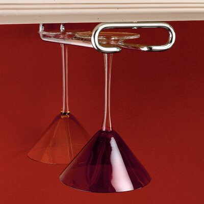 Hanging Metal Wine Glass Rack Finish: Chrome