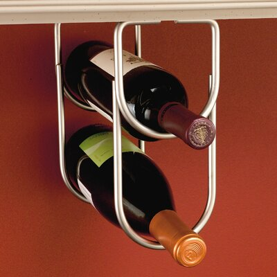 2 Bottle Hanging Wine Rack Finish: Satin Nickel