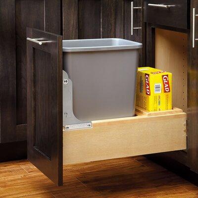 rev a shelf 35 qt bottom mount wood waste bin