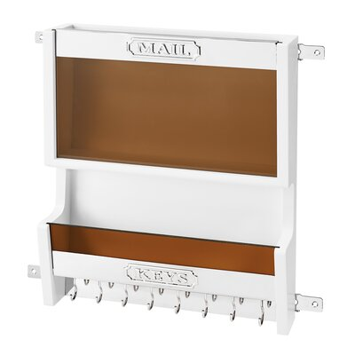 Door Mounted Mail Organizer Finish: White