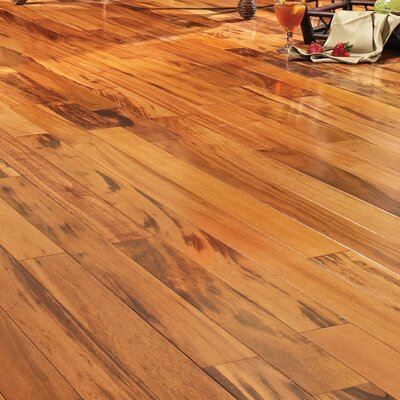 5 Solid Brazilian Tigerwood Hardwood Flooring in Natural