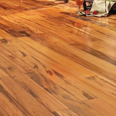 5 Engineered Brazilian Tigerwood Hardwood Flooring in Natural