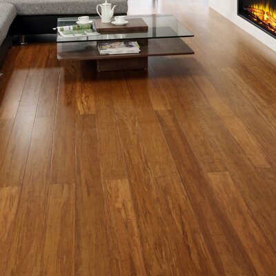 5 Engineered Strand Woven Bamboo  Flooring in Caramel