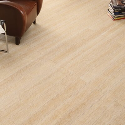 4-3/4 Solid Strand Woven Bamboo  Flooring in Summer Wheat