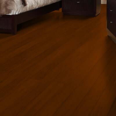 4-3/4 Solid Strand Woven Bamboo  Flooring in Chestnut