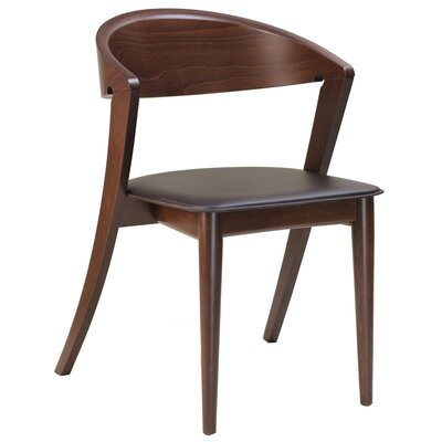 Cortina Genuine Leather Upholstered Dining Chair Upholstery: Brown