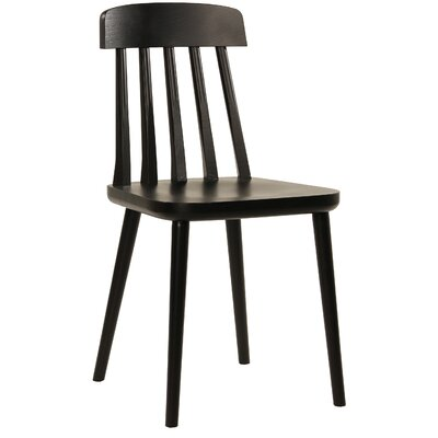 Cut Side Chair Finish: Black