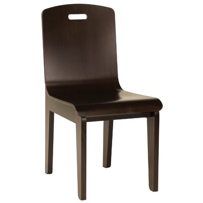 Bent Side Chair (Set of 2) Finish: Walnut