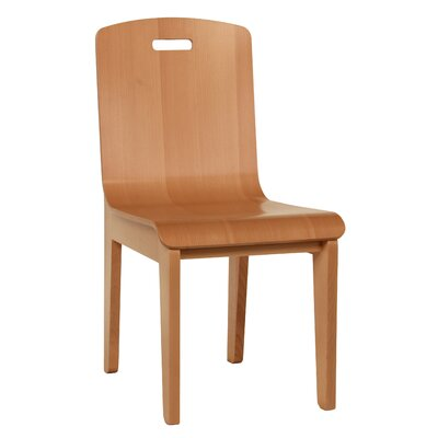 Bent Side Chair (Set of 2) Finish: Natural