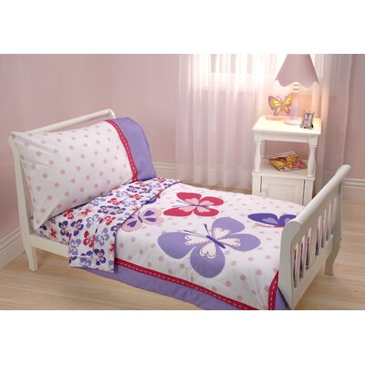 Butterfly 4 Piece Toddler Bedding Set 6351416