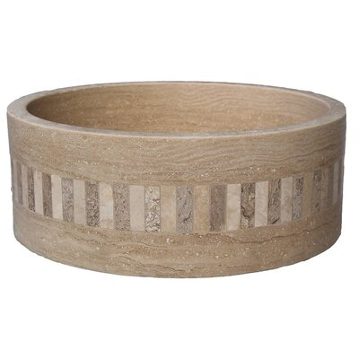 Mosaic Cylindrical Ring Circular Vessel Bathroom Sink