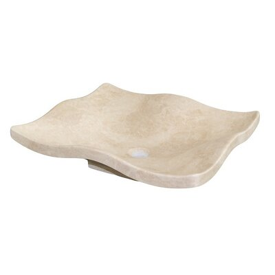 Flower Petal Stone Rectangular Vessel Bathroom Sink Sink Finish: Light