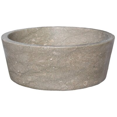 Tapered Natural Stone Circular Vessel Bathroom Sink Sink Finish: Sea Grass