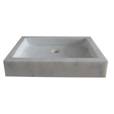 Angled Flow Stone Rectangular Vessel Bathroom Sink Sink Finish: Noce