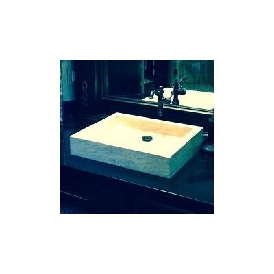 Angled Flow Natural Stone Rectangular Vessel Bathroom Sink Sink Finish: Beige