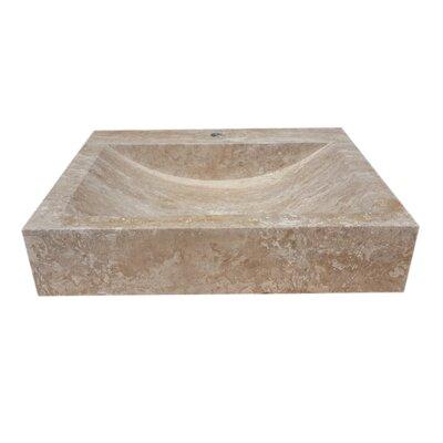 Natural Stone Rectangular Vessel Bathroom Sink Sink Finish: Afyon Noce