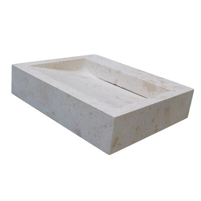 Linear Drain Stone Rectangular Vessel Bathroom Sink Sink Finish: Light