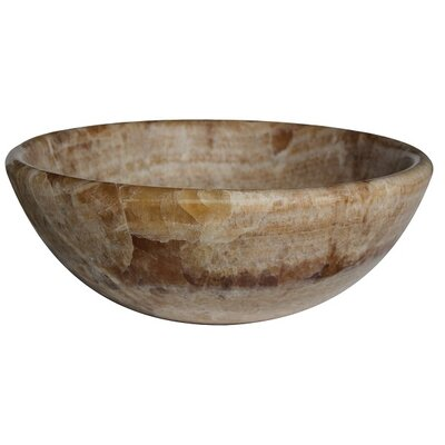 Classic Natural Stone Circular Vessel Bathroom Sink